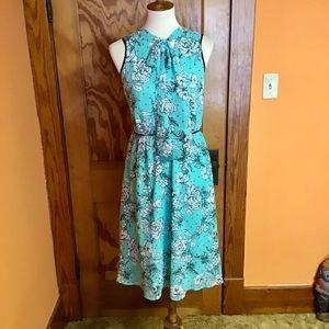 Elle vintage inspired 50s look floral dress